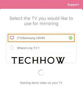 Mirror to Samsung TV