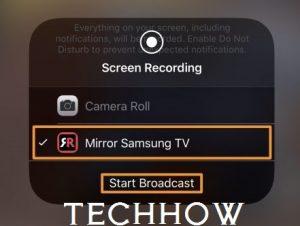 Start Broadcast Samsung TV