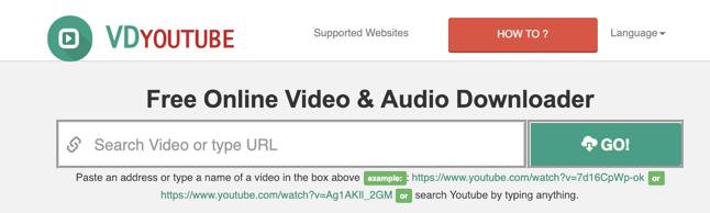 Download YouTube Videos VDYoutube