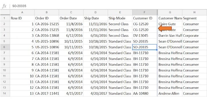 How to Freeze Rows and Columns in Google Sheet