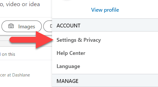 How to delete linkedin account