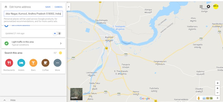 add or change my home address on Google Maps