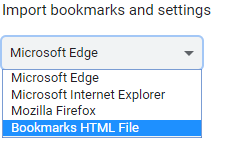 transfer bookmarks from one computer to another in Google Chrome