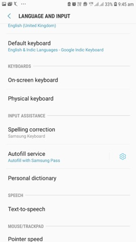 How to turn off autocorrect on android