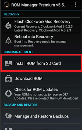 reinstall android os