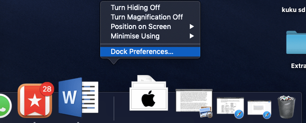 HOW TO HIDE DOCK ON MAC