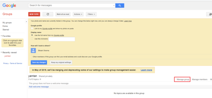 How to delete google groups