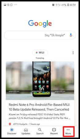 How to turn on ok Google