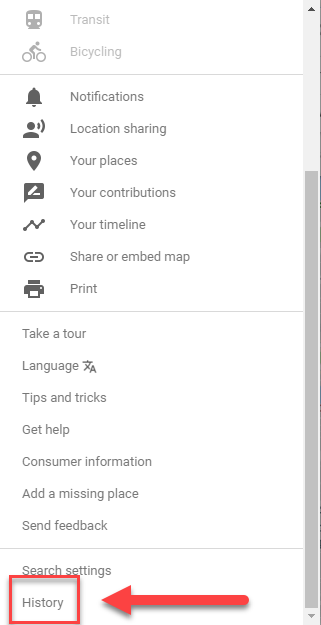 How to Delete Google Maps History