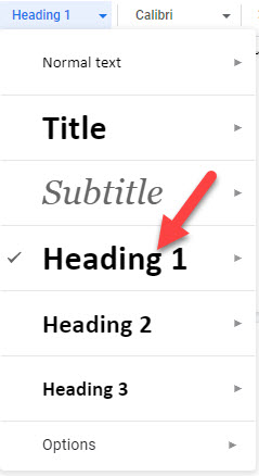 how to make an outline in google docs