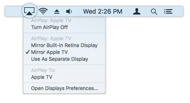 How to airplay from mac