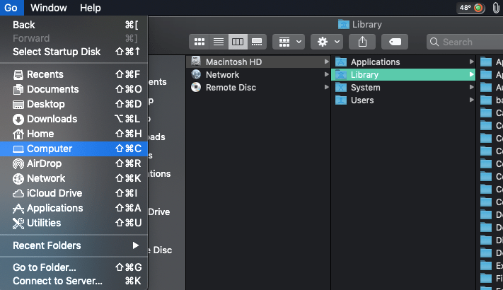 HOW TO ACCESS LIBRARY ON MAC
