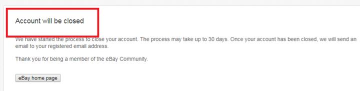 How To Delete Ebay Account