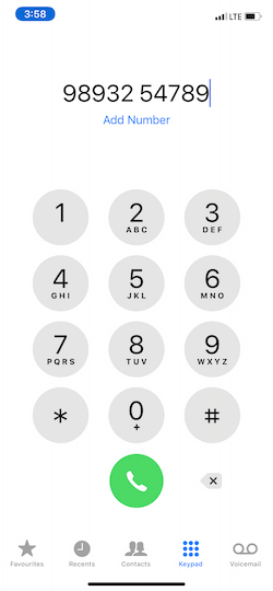 How to automatically dial an extension on iPhone