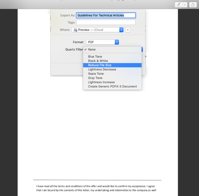 How to compress pdf on mac