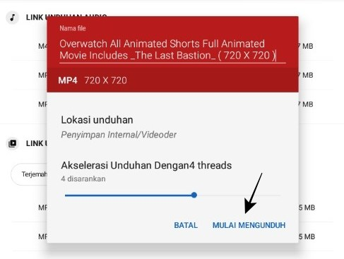Rename File and Download Video File