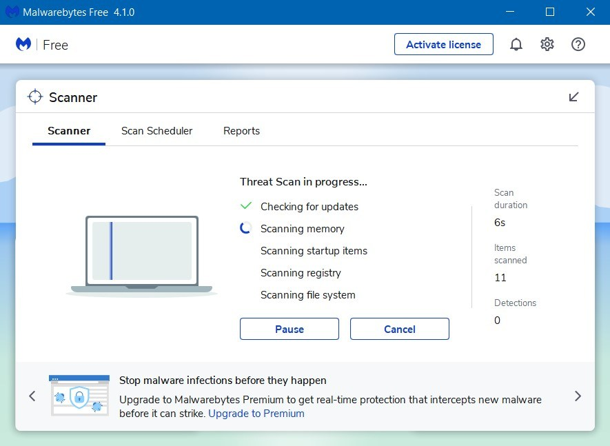Wait for the Malware Scan Process to Finish - How to Get Rid of Ads on Google Chrome