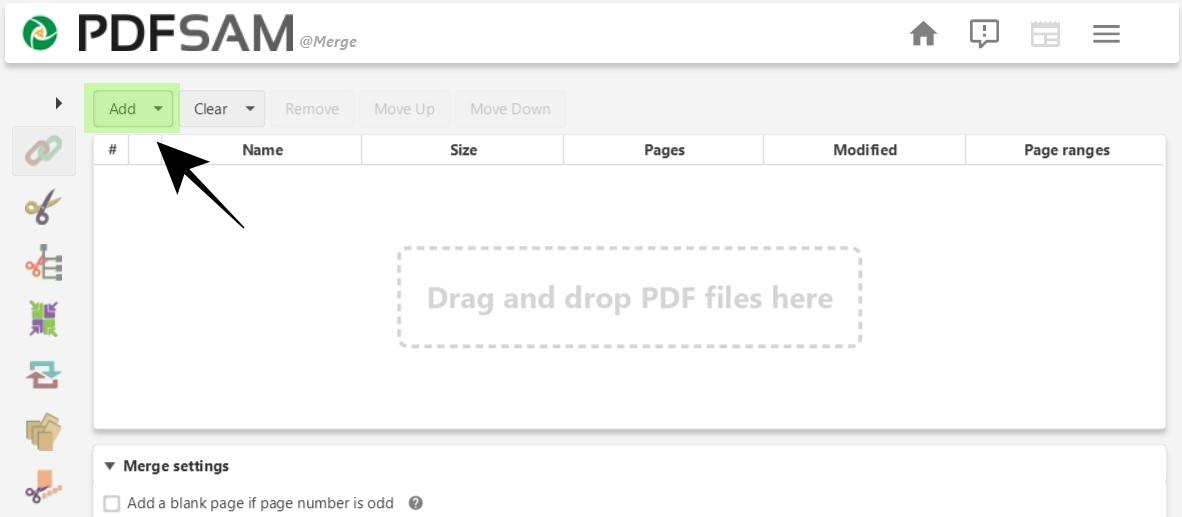 Add PDF Files to PDFsam