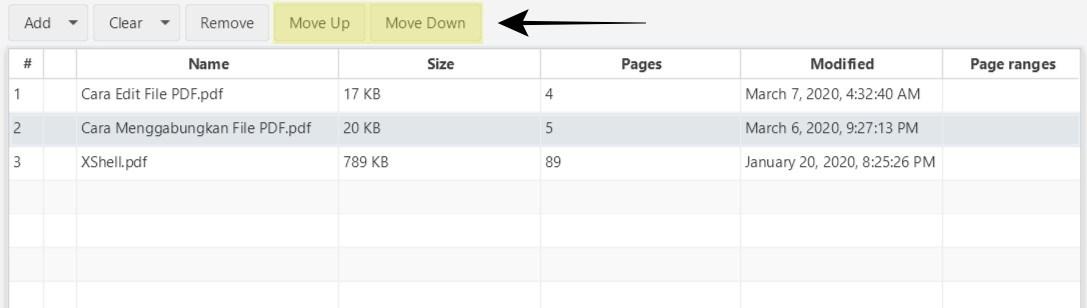 Set PDF Order
