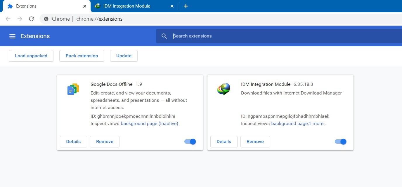 IDM Extension Successfully Installed on Google Chrome