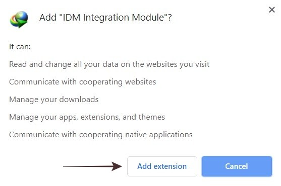 Add IDM Extension to Chrome