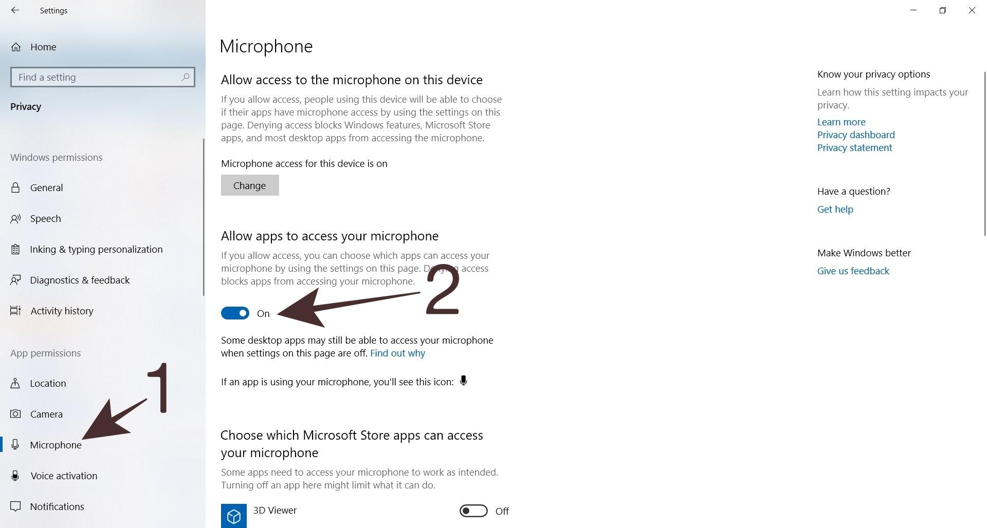 How to Set Microphone Through Windows Settings