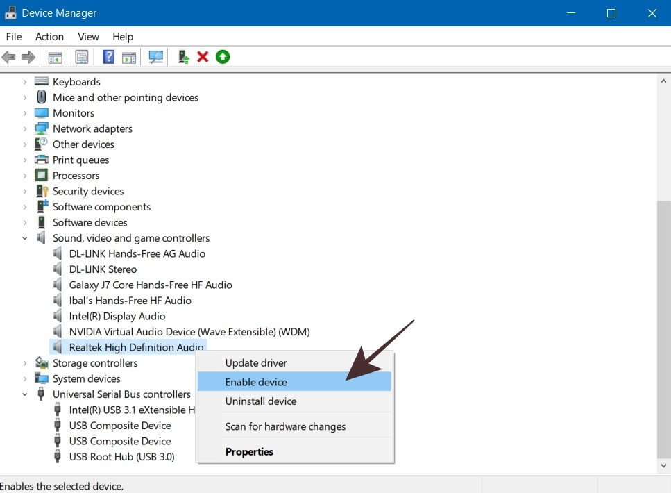 Enable Sound Card for Windows 10 Microphone
