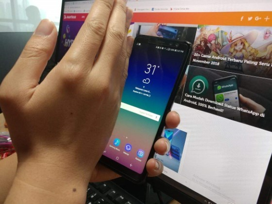 How to Screenshot Samsung by Swiping the Screen