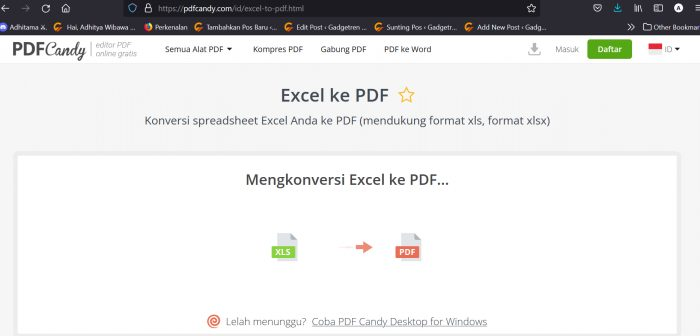 Convert Excel to PDF Candy 2