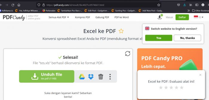 Convert Excel to PDF Candy 3