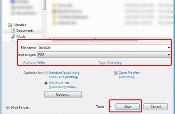 Convert Excel 2010 to PDF 2