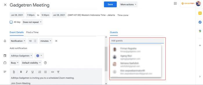 Schedule Zoom Meeting Laptop Invitation